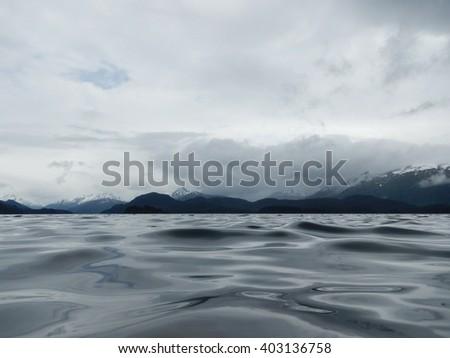 low angle view of waters on the kenai peninsula - stock photo