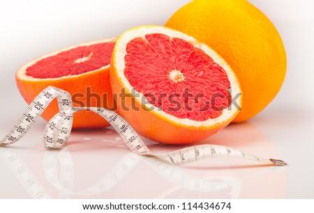 Low calorie grapefruit - stock photo