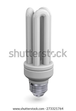 Low Consumption Light Bulb 3D - stock photo