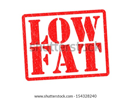 LOW FAT Rubber Stamp over a white background.