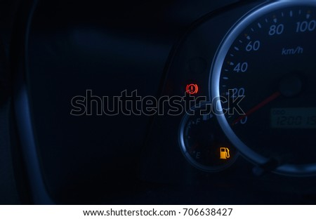 low fuel light shown with hand brake light & Low Fuel Stock Images Royalty-Free Images u0026 Vectors | Shutterstock azcodes.com