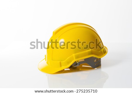 low Hard Hat with Clipping Path. - stock photo