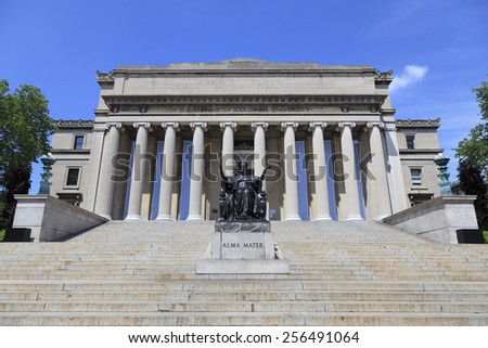 Low Memorial Library, Columbia University in New York - stock photo