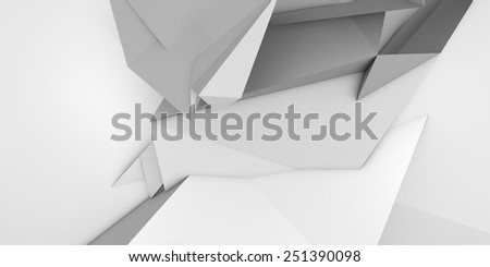 low poly abstract origami shape - stock photo