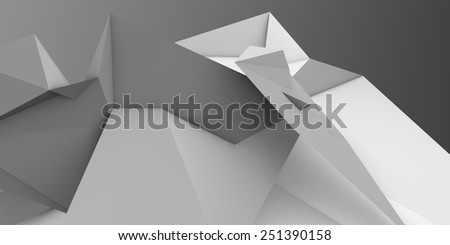low poly abstract origami shape