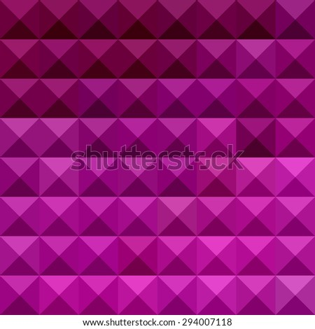 Low polygon style illustration of a byzantine purple abstract geometric background. - stock photo