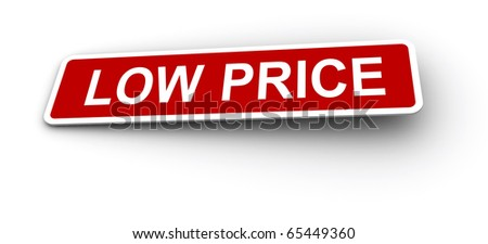 Low price labels. - stock photo
