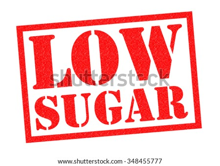 LOW SUGAR red Rubber Stamp over a white background.