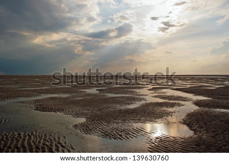 Low tide in the north sea