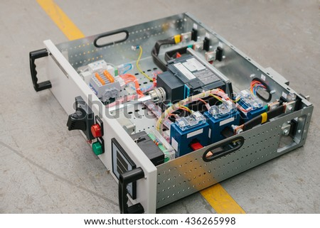 Low-voltage cabinet. Uninterrupted power. Electrical power. - stock photo