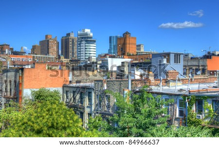 Lower East Side Tenements in New York City. - stock photo