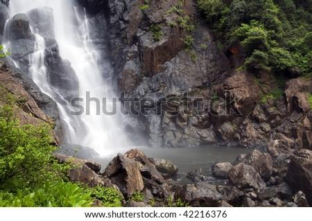 Lower Ellenborough Falls - stock photo