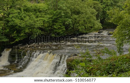 Lower Falls at Aysgarth on the River Ure, in Wensleydale, North Yorkshire, England