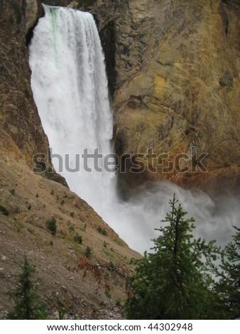 Lower Falls at Yellowstone - stock photo