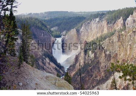 Lower Falls of the Yellowstone River in Yellowstone National Park, Wyoming