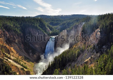 Lower Falls, Yellowstone National Park, Wyoming, USA - stock photo