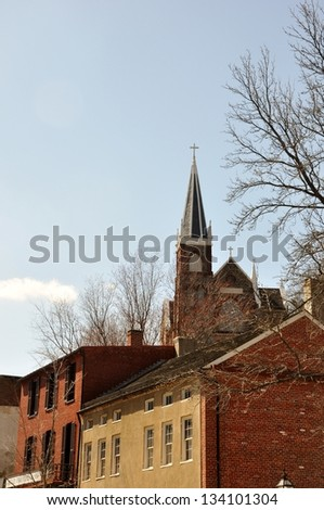 Lower Harper's Ferry - stock photo