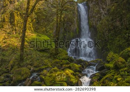 Lower Kentucky Falls Oregon - stock photo