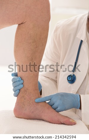 Lower limb vascular examination - stock photo