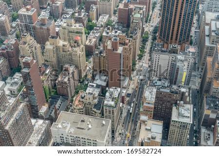 Lower Manhattan New York City - stock photo