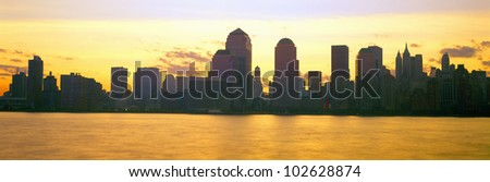 Lower Manhattan Skyline at Sunrise