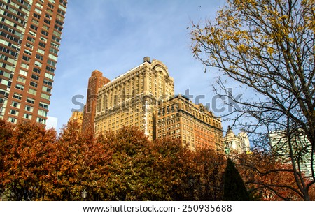 Lower Manhattan, View from Battery Park, New York, United States of America  - stock photo