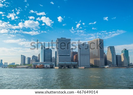 Lower Manhattan - view from Governors Island