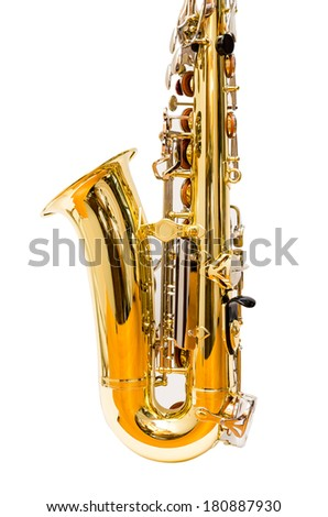 Lower part of an alto saxophone