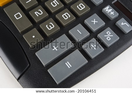 Lower right-hand side of a desktop calculator