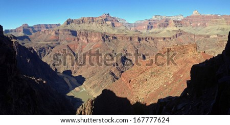 Lower South Kaibab Trail in Grand Canyon National Park in Arizona