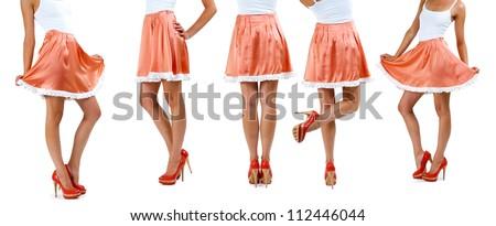 Lower than a belt - stylish women's clothing. Skirt. - stock photo