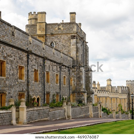 Lower Ward, Windsor Castle, Berkshire, England. Official Residence of Her Majesty The Queen