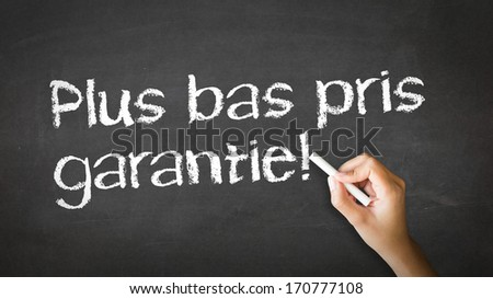 Lowest Price Guarantee (In French) - stock photo