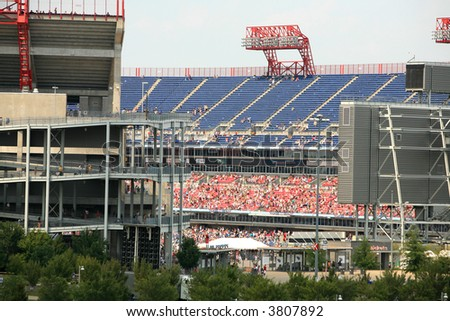 LP Field ( where the Titans play ) in Nashville - stock photo
