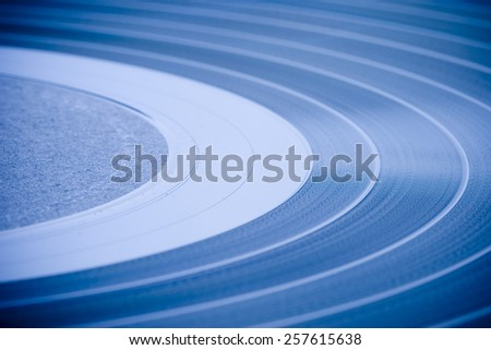 LP record closeup - stock photo