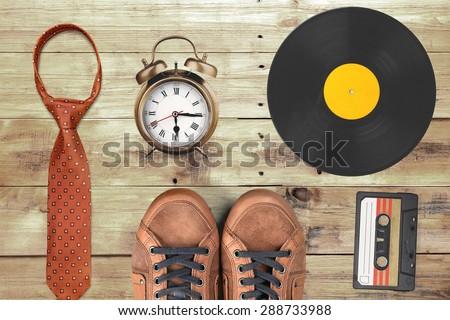 Lp, vinyl, gramophone. - stock photo
