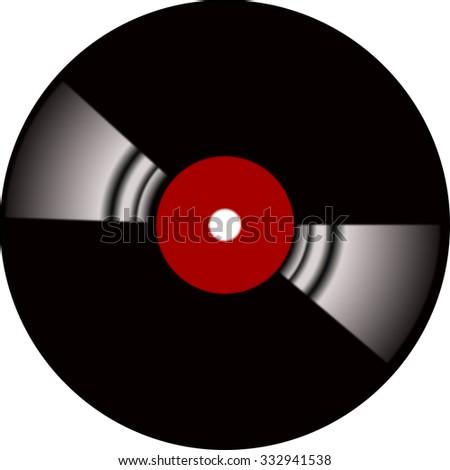 lp vinyl record - stock photo