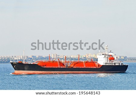 LPG (liquid petroleum gas) tanker at Black sea, Odessa, Ukraine