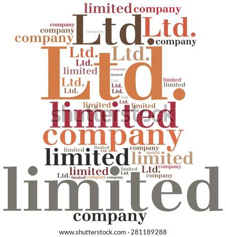 LTD. Limited company. Business abbreviation. - stock photo