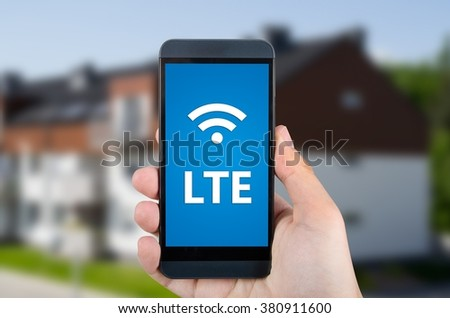 LTE high speed mobile internet connection device - stock photo