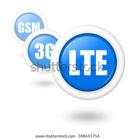 LTE telecommunication progress concept illustration - stock photo