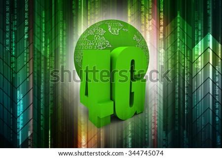 LTE wireless communication technology concept - stock photo