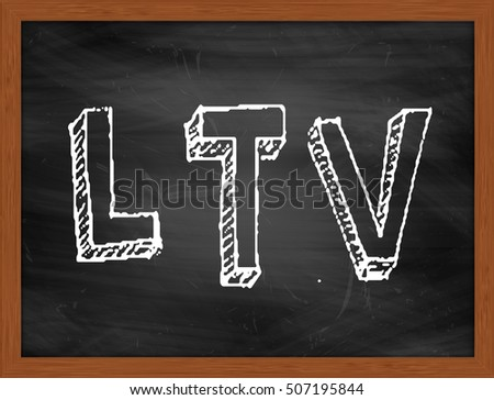 LTV hand writing chalk text on black chalkboard