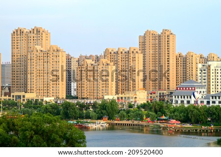 LUANNAN COUNTY - JULY 14: Urban construction scenery, on july 14, 2014, Luannan county, Hebei Province, China