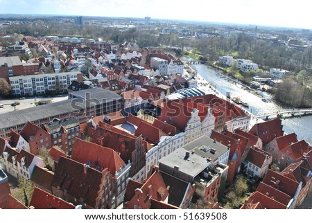 Lubeck, Germany, view from Marienkirche