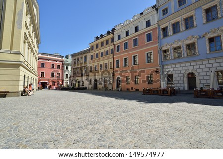 LUBLIN, POLAND - JULY 22: Old town of Lublin on July 22, 2013 in Lublin, Poland. Lublin is the biggest city in eastern Poland. It is one of the oldest cities in Poland, with historic Old Town.