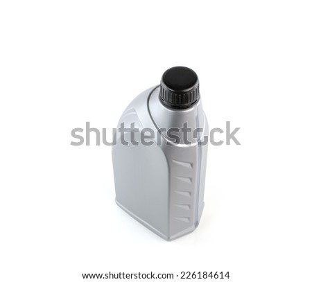Lubricants bottle isolated on white background