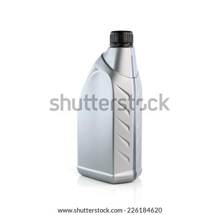 Lubricants bottle isolated on white background - stock photo