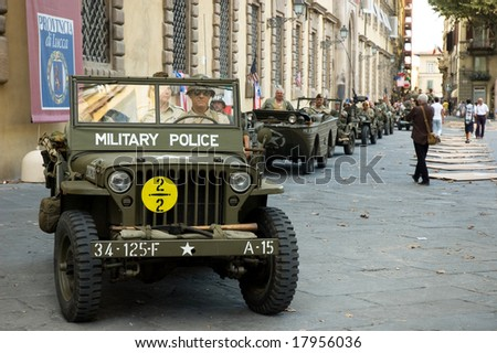 LUCCA - SEPTEMBER 5: 64th anniversary of Lucca liberation by US Army September 5, 2008 in Lucca, Italy.