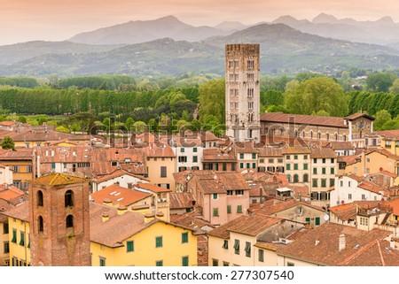 Lucca Tuscany Italy - stock photo
